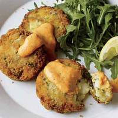 Quick Cod Cakes and Tangy Red Pepper Sauce