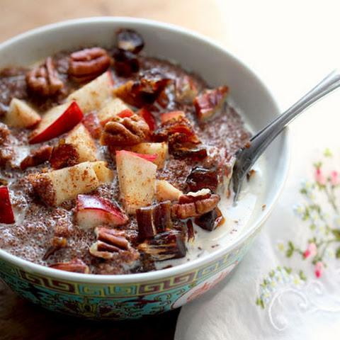 Teff Porridge with Apples, Dates, and Pecans