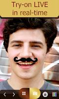 Screenshot of Mustache Mirror