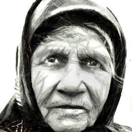 Portrait - drawing by Daliana Pacuraru - Drawing All Drawing ( face, old, women, people, drawing, portrait )
