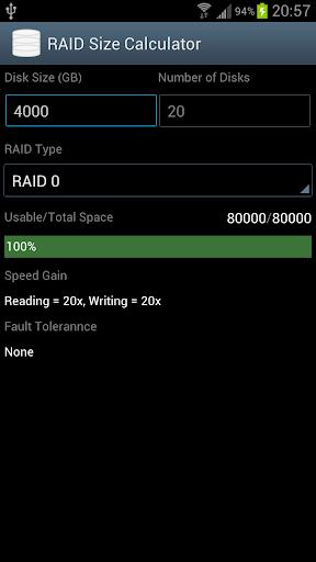 RAID Calculator