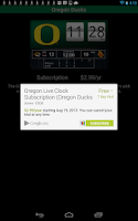 Screenshot of Oregon Ducks Live Clock