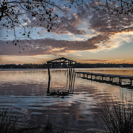 Forgotten Dock by Shelley Patterson - Landscapes Waterscapes