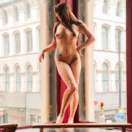 Omani in the Window by Ian Cartwright - Nudes & Boudoir Artistic Nude ( henna, nude, liberated ladies, exhibitionist, body paint )