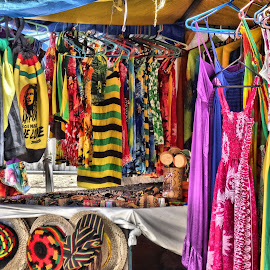 Colors of Jamaica by Michael Lopes - Artistic Objects Clothing & Accessories ( colorful clothes, jamaica clothing, beach wear in jamaica, bright clothes )