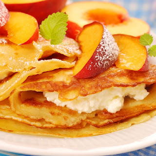 Peach Ricotta Crepes