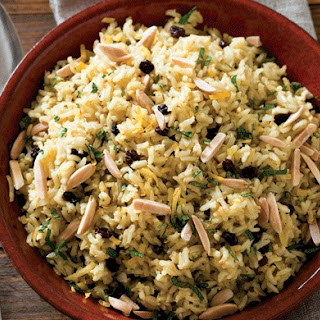 Brown Rice Pilaf with Saffron and Ginger