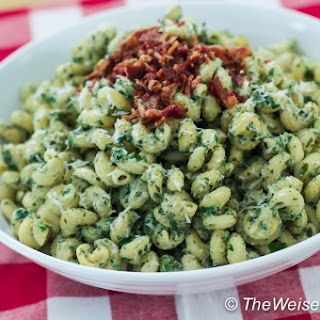 Pasta with Basil, Mint, Spinach, and Ricotta Sauce