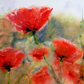 Poppies by Clark - Worthington - Painting All Painting ( red, poppies, painting )