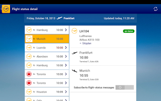 Screenshot of Lufthansa