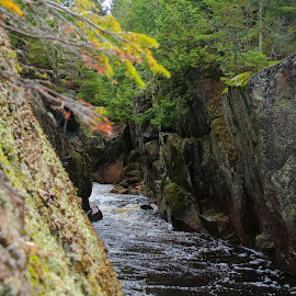 Sunridge Gorge by Roberta Janik - Landscapes Caves & Formations ( sunridge, rock_walls, gorge, rushing_water, ontario, rocks, river )