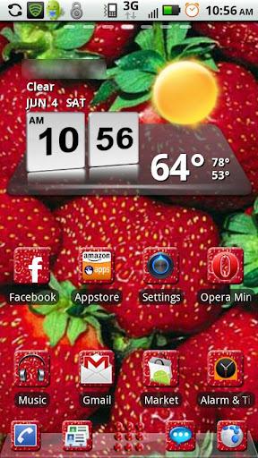 Strawberry GO Launcher Them