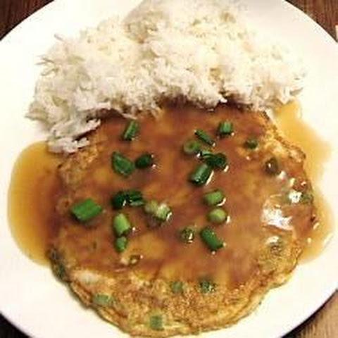 Chicken Egg Foo Yung And Garlic Bok Choy Recipe — Dishmaps