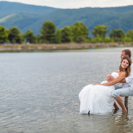 Summer calm by Alexander Hadji - Wedding Other ( calm, water, wedding, greece, bride )