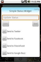 Screenshot of Simple Status Widget