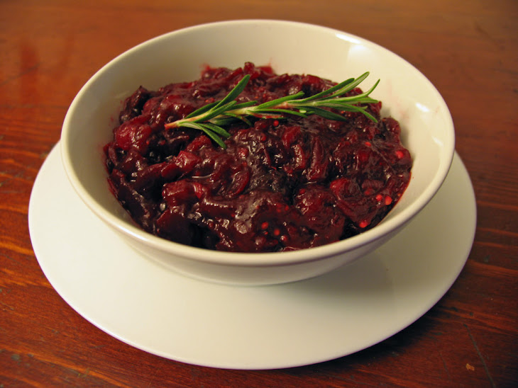 Cranberry Chutney with Rosemary and Figs