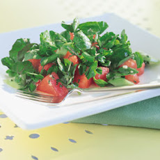 Watermelon and Watercress Salad with Ginger