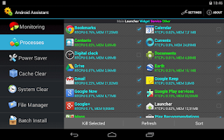 Screenshot of Android Assistant