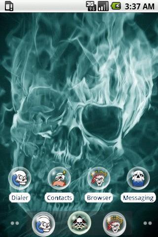 Fire skull [SQTheme] for ADW
