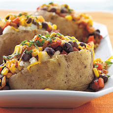 Black Bean and Corn-Topped Potatoes
