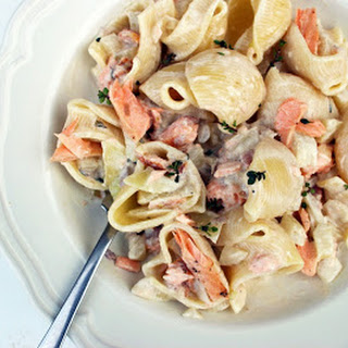 Salmon, Bacon And Fennel Lumaconi