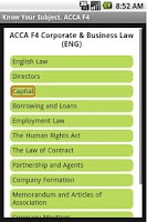 Screenshot of ACCA F4 Corporate Business Law