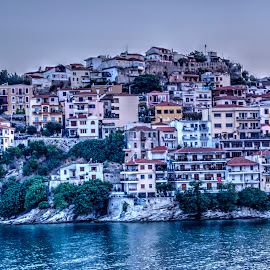 Kavala by Stratos Lales - City,  Street & Park  Historic Districts ( panagia, houses, sunset, colours, peninsula )