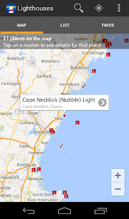 Lighthouse Locator - screenshot