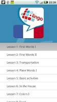 Screenshot of L-Lingo Learn French Pro