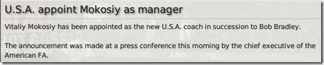 I was appointed as USA coach