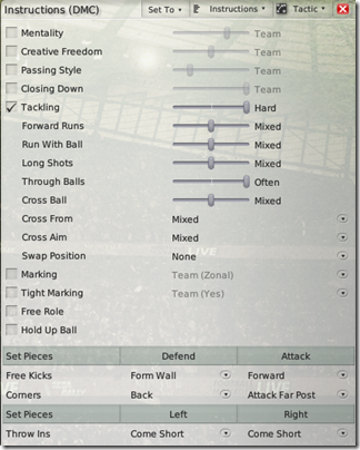 DMC instructions for Football Manager 2008