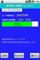 Screenshot of 電力需要チェッカー