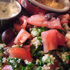 Tabbouleh With Red and Gold Tomatoes