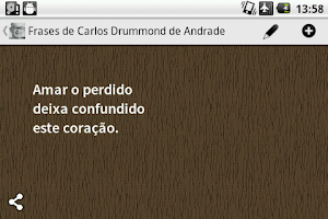 Screenshot of Carlos Drummond de Andrade