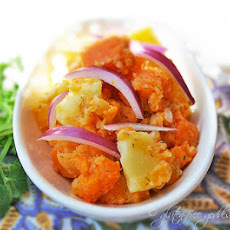 Sweet Potato Salad With Red Onion.