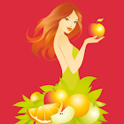 Raw food recipes and meals icon