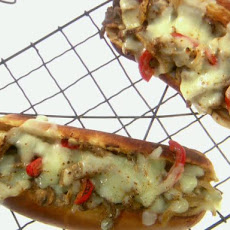 Three Cheesesteak Sandwiches