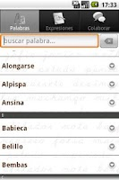 Screenshot of Palabras Canarias