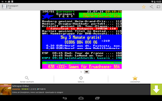 Screenshot of Videotext