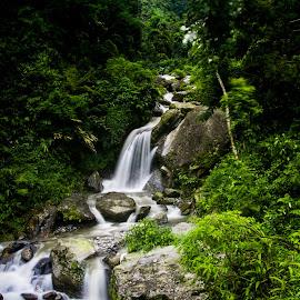Water Falls by Gurung Purna - Landscapes Waterscapes ( hill, kurseong, mountain, water falls )