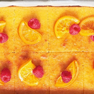 "Orange & Almond Tray Bake From ""The Ginger & White Cookbook"""