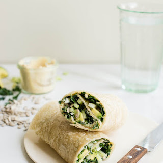 Kale and Hummus Wrap