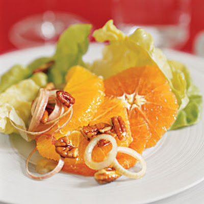 Lettuce, Orange, and Pecan Salad
