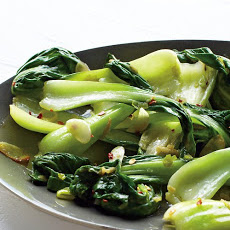 Baby Bok Choy with Chile and Garlic