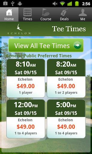 Echelon Golf Tee Times