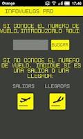 Screenshot of InfoVuelos FREE