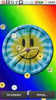 Screenshot of Tie Dye Peace Clocks Live