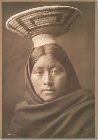 Papago girl by Edward S. Curtis