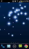 Screenshot of Glitter Star Live Wallpaper