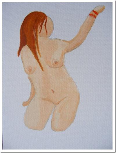 Nude Acrylic Painting